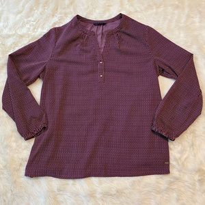 Tommy Hilfiger Top with Gold Buttons - Large
